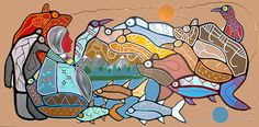 """The Beginning of Time (acrylic on canvas 47""""x90"""") - Roy Thomas"""