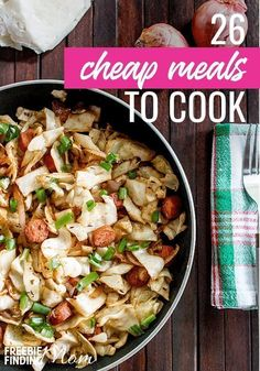 Need delicious and easy to make dinner ideas that won't break the bank? No problem! Here are 26 Cheap Meals to Cook that are simple to make and within your budget. You'll find cheap chicken recipes, beef recipes, pork recipes along with easy pasta recipes Cheap Meals To Cook, Easy To Make Dinners, Easy Family Dinners, Healthy Family Meals, No Cook Meals, Cheap Simple Meals, Easy Meals, Cheap Chicken Recipes, Easy Pasta Recipes