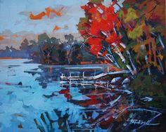 Brian Buckrells acrylic paintings