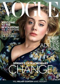 7 años después, así reaparece Adele en la portada de Vogue