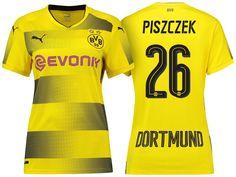 Women Borussia Dortmund 2017-18 Home Shirt lukasz piszczek