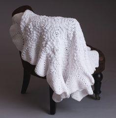 Crochet Pattern - Olivia receiving/blessing baby blanket. $5.00, via Etsy.