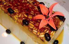Receta de Pastel de Coco y Piñones.   Receta de Navidad