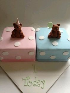 Birthday cake for twins