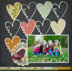 Crate Paper : Love layout by Katie Ehmann