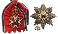 ORDER OF SAINT OLAF Grand Cross Set, 1st Class, : Lot 1435