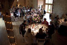After a long day everybody tucks in. #weddingvenue #surreywedding #barnwedding #weddingfood