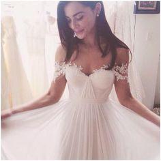 Charming A-Line Wedding Dresses,Long Appliques Wedding Dresses,Wedding Dresses,WD02 on Luulla