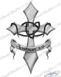 Banner And Cross Tattoo Design Idea : Cross Tattoos Hawk Tattoo, Wolf Tattoos, Skull Tattoos, Print Tattoos, Tribal Tattoos, Sleeve Tattoos, Fun Tattoo, Celtic Cross Tattoo For Men, Celtic Crosses