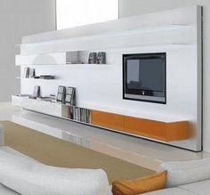 Contemporary TV wall unit / aluminum / MDF / modular ELEVENFIVE by Bruno Fattorini MDF Italia