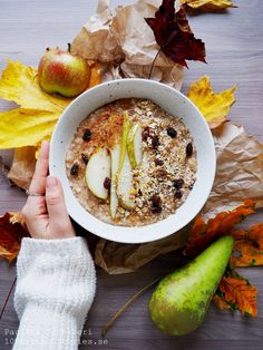 Autumn Apple and Pear Porridge with Ginger & Cinnamon | 100 KITCHEN STORIES