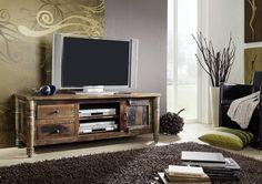 TV – Board aus indischem Altholz lackiert - Massivmoebel24