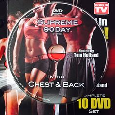 """INTRO - CHEST & BACK.  **Supreme 90Day System, """"Get Ripped in 90Days!"""" Workout Calendar, Get Ripped, Dvd Set, Nutrition Guide, See On Tv, Supreme, Boot Camp"""
