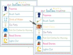 How to Use Routine Charts {Modern Parents Messy Kids} Bedtime Chart, Bedtime Routine Chart, Daily Routine Chart, Bed Time Routine, Daily Routines, Kinder Routine-chart, Nightime Routine, Charts For Kids, Behaviour Chart