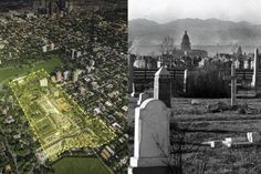 Today, the Denver Botanic Garden's is a beautiful and lively space that sees more than 70,000 visitors each month. But between 1865 and 1950, the 24-acre plot was home to thousands of bodies buried in the Catholic Mount Calvary Cemetery (pictured, right).