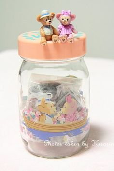Duffy and Shellie May Tea Bag Jar, from Tokyo DisneySea