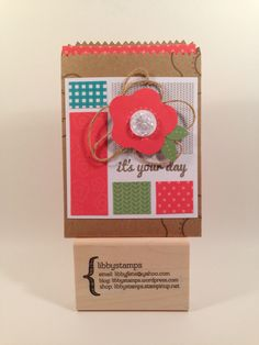 libbystamps, Stampin' Up, stampinup, Mini Treat Bag Thinlits, Happy Thoughts Paper Pumpkin,