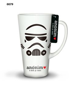 Star Wars (R) Inspired Storm Trooper Mug in earthenware with striped handle