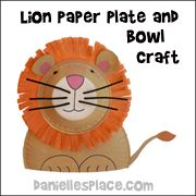 lion paper plate bowl and craft