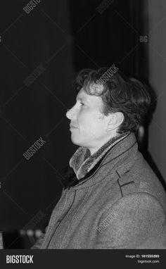 Young Man Monochrome Portrait In Profile