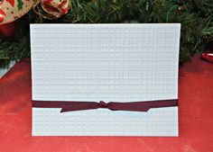 Classic Plaid Embossed Cards / Embossed Plaid by MoreFriendsAndCo, $8.00