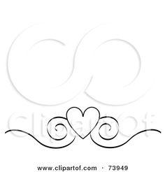 black and white Heart Border free Clip Art | black wedding ...
