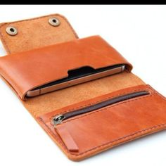 Leather iPhone wallet case in Orange Brown - with zipper and cards slot from BluePetalz on Etsy. Saved to Bags & Pants. Leather Phone Case, Leather Wallet, Couture Cuir, Crea Cuir, Diy Accessoires, Iphone Wallet Case, Leather Projects, Leather Accessories, Leather Jewelry