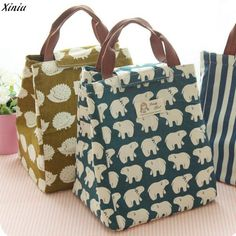 9a099ce5caa6 Portable Tote Thermal Insulated Lunch Box Bag Cooler Picnic Pouch Bento  case New