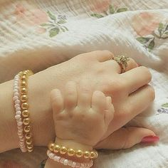 "Mommy and Me bracelets by June + Penny ""This is why I love what I do, because precious moments like this are exactly why I started June + Penny. Thank you from the bottom of my heart for sharing your Mommy + Me moment with us."