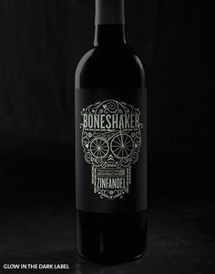Boneshaker Glow in the Dark Label  |  Hahn Family Wines -- Package - Packaging - Design -