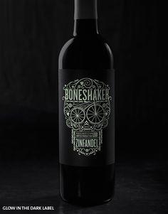 Boneshaker Glow in the Dark Label | Hahn Family Wines -- Package - Packaging - Design -
