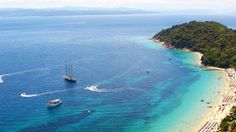 koukounaries beach Skiathos Greece