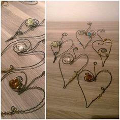 Hearts from metal wire. Sydämiä metallilangasta.