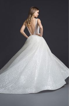 Bridal Gowns and Wedding Dresses by JLM Couture - Style 3662 Lazaro Dresses, Lazaro Wedding Dress, Lazaro Bridal, Bridal Gowns, Wedding Gowns, Backless Wedding, Art Deco Wedding Dress, Fairy Wedding Dress, Tulle Ball Gown