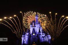 Fotografía Disney fireworks por Vijay Lal en 500px