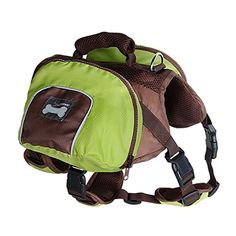 Dog Foldable Backpack Waterproof Portable Travel Outdoor Bag Pack Green L * Click image to review more details.