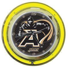 Trademark Commerce CLC1400-ARM Army Neon Clock - 14 inch Diameter
