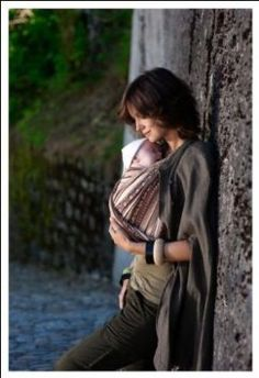 This looks so effortless! I need to get on the woven wrap wagon.... Ellevill Wrap Baby Carrier - Zara Linen Storm: Baby