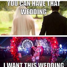 My wedding vs your wedding... Couples that rave together stay together.