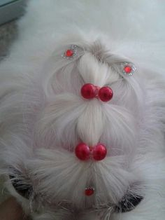 Top knot bling 2. Although designed for pets, this idea could be used for dolls.