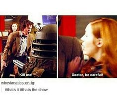 That's it. That's the whole couple seasons of doctor who for Amy and 11...