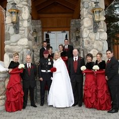 I would change the fur wraps to white but thats just me! These are interesting winter wedding ideas