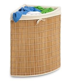 Bamboo Wicker Corner Hamper by Honey-Can-Do on #zulily