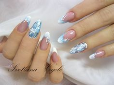 Frozen inspired nails Pinterest: Freya Smith | for more!