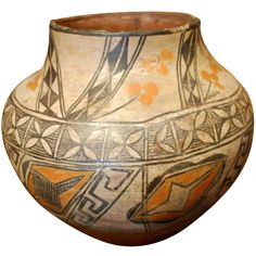 Zia Water Jug Late 19th Century Indian Native American
