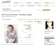 Birth Announcement Design |