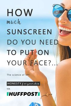 Are you putting enough sunscreen on your face? How much sunscreen is enough? How do you know? Learn the answer to these 3 questions and more by clicking through above...
