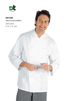 GIACCA CUOCO ENRICA BIANCA TG. L ISACCO cucina chef ristorante pasticceria  Giacche 95b2913136b4