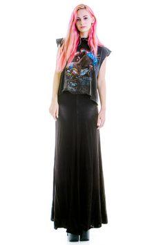 Vintage 90's Beauty Queen Silk Maxi Skirt - S