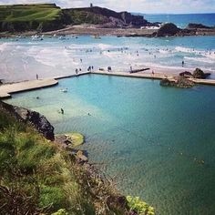 Bude sea pool, Cornwall.
